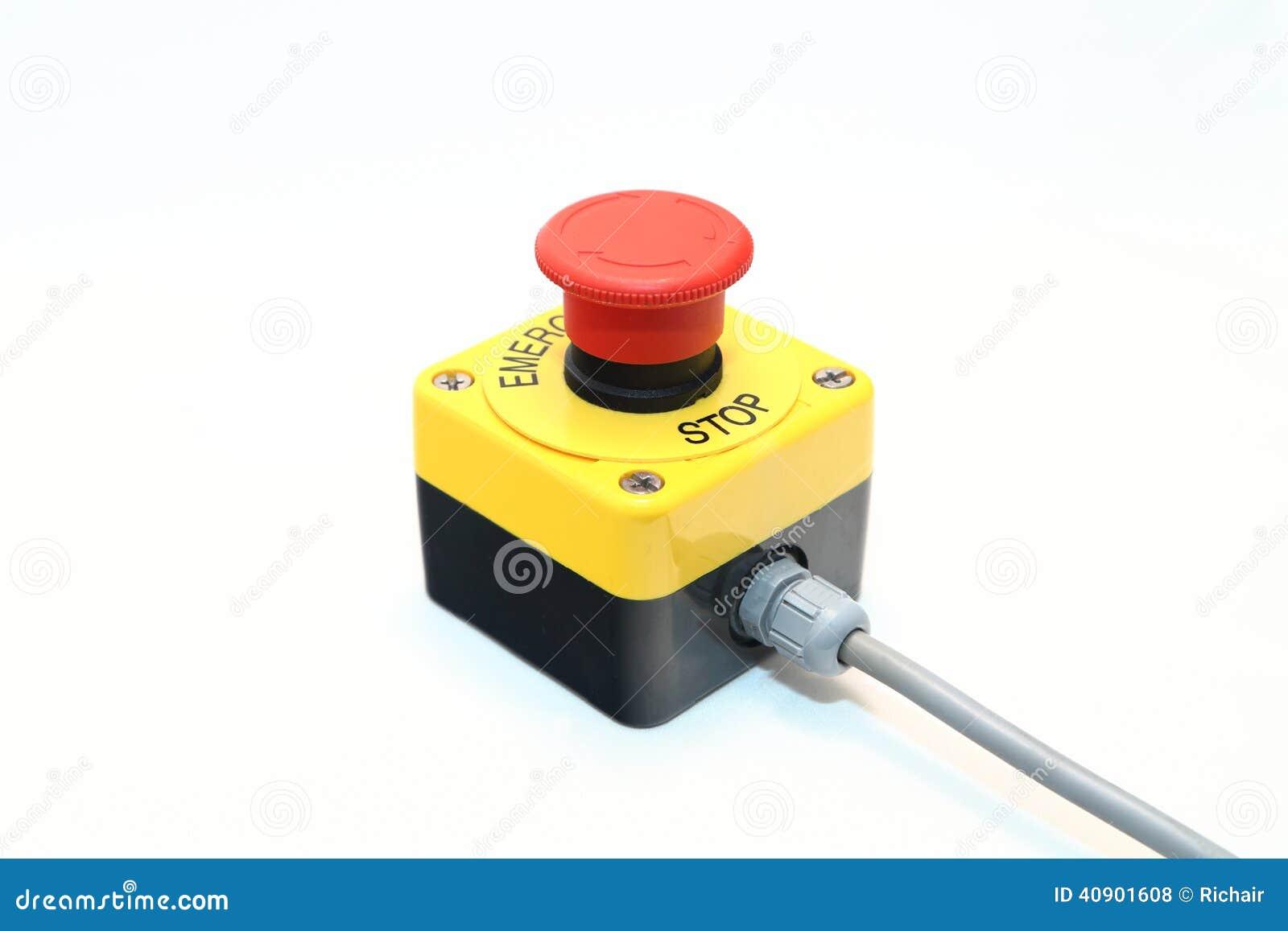 Bouton d 39 arr t d 39 urgence photo stock image 40901608 - Bouton arret d urgence ...