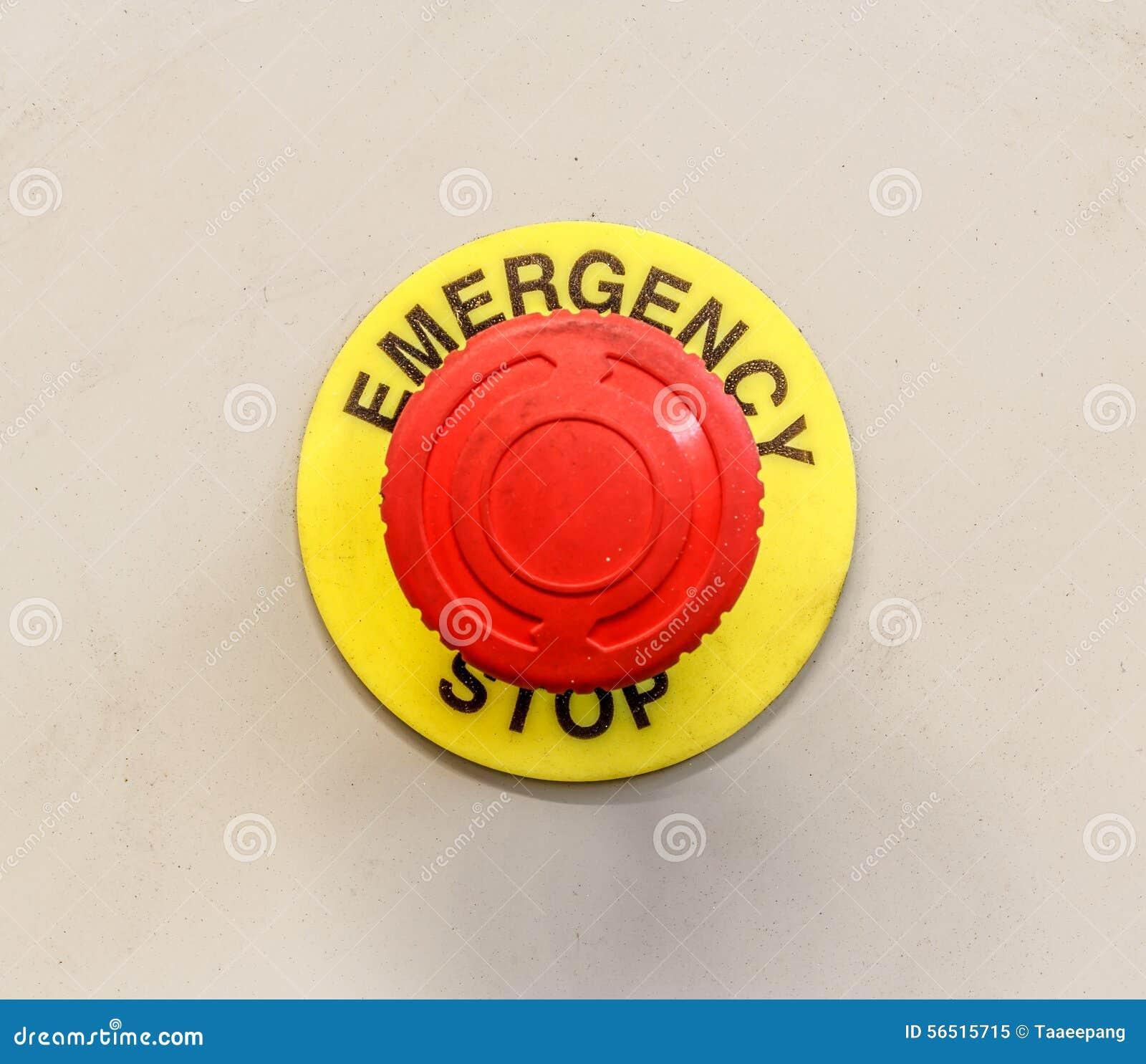 Bouton d 39 arr t d 39 urgence photo stock image 56515715 - Bouton d arret d urgence ...