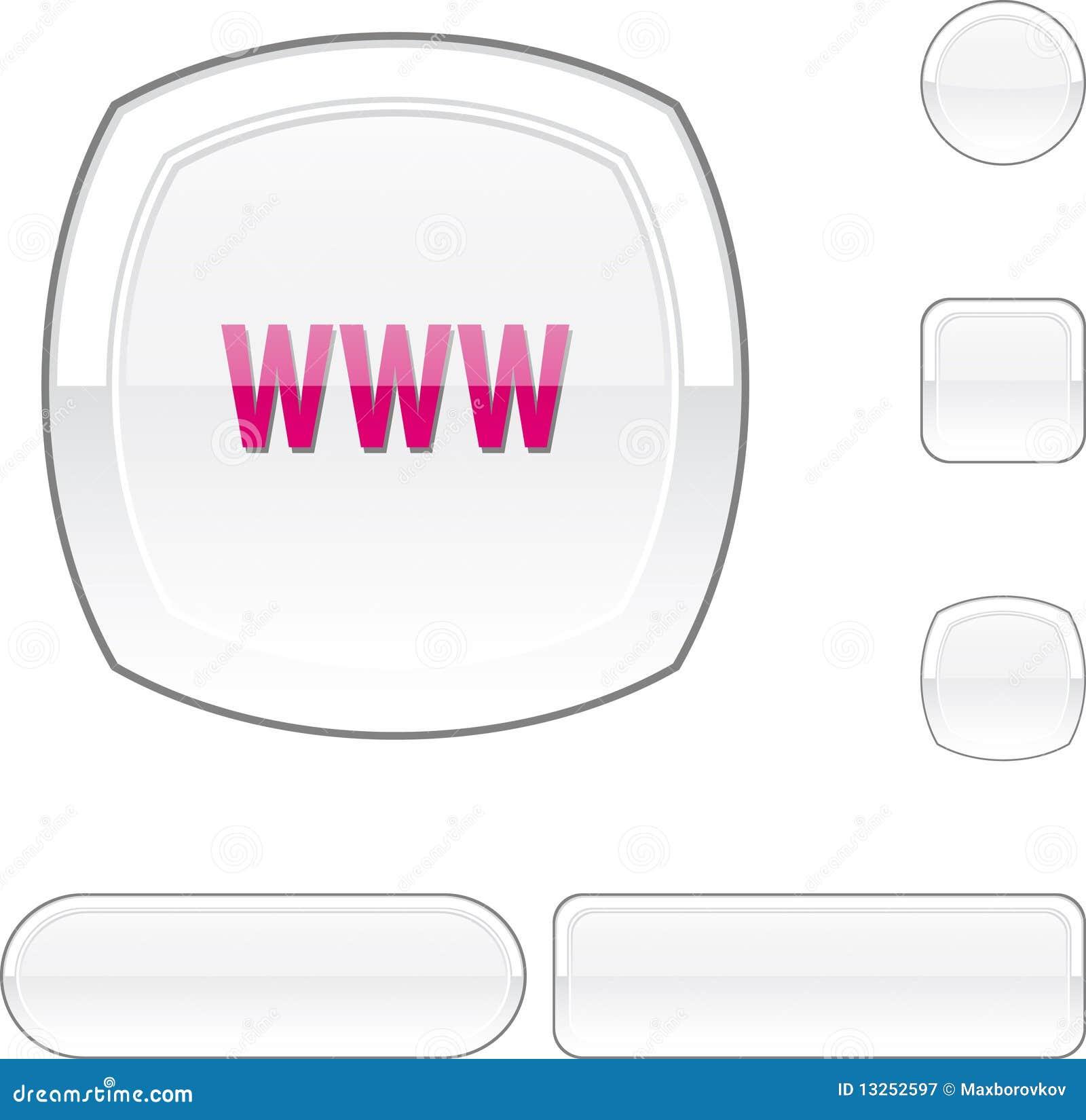 Bouton de blanc de WWW.