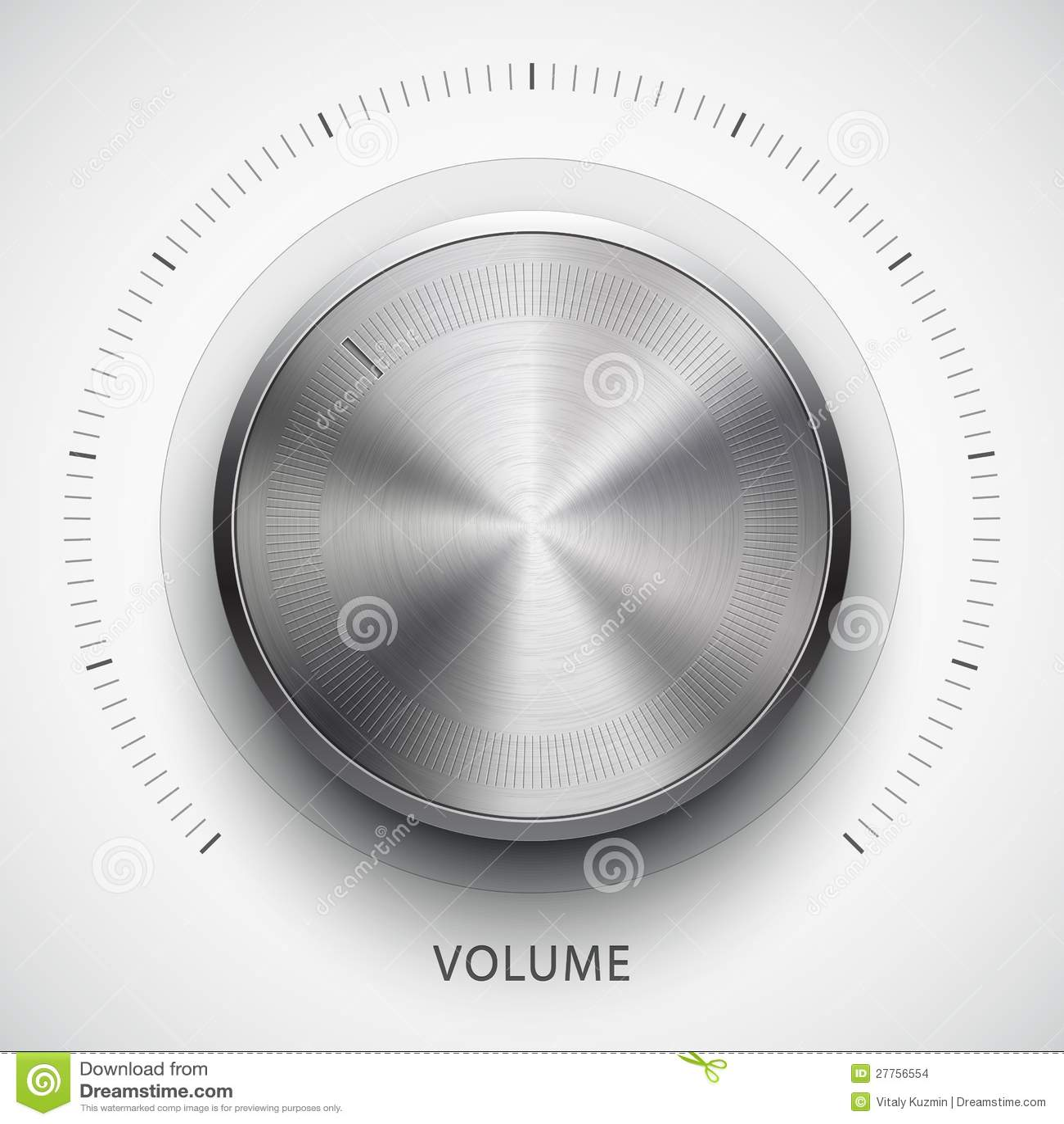 Bouton de volume de technologie avec la texture en métal