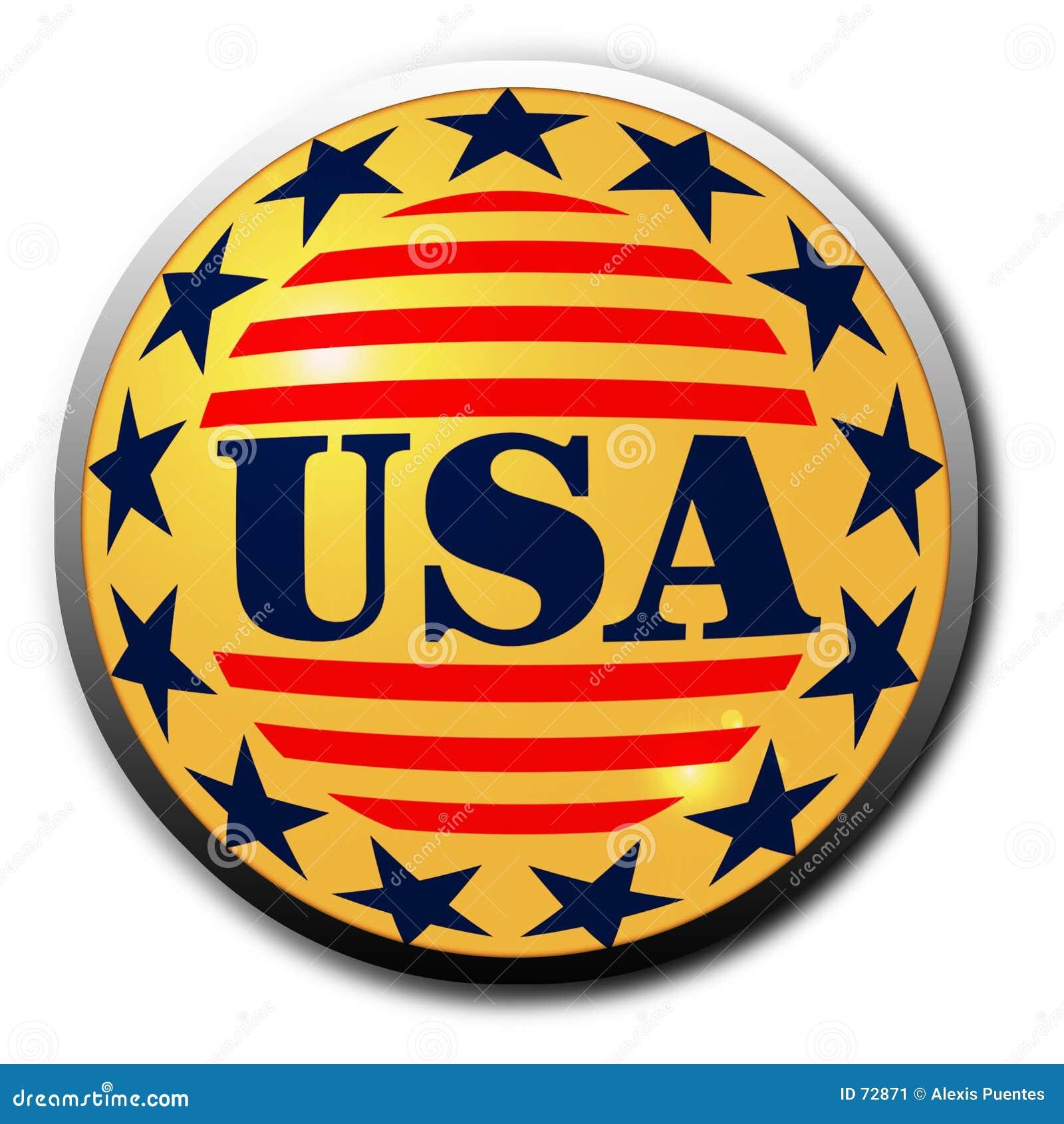 Bouton des Etats-Unis