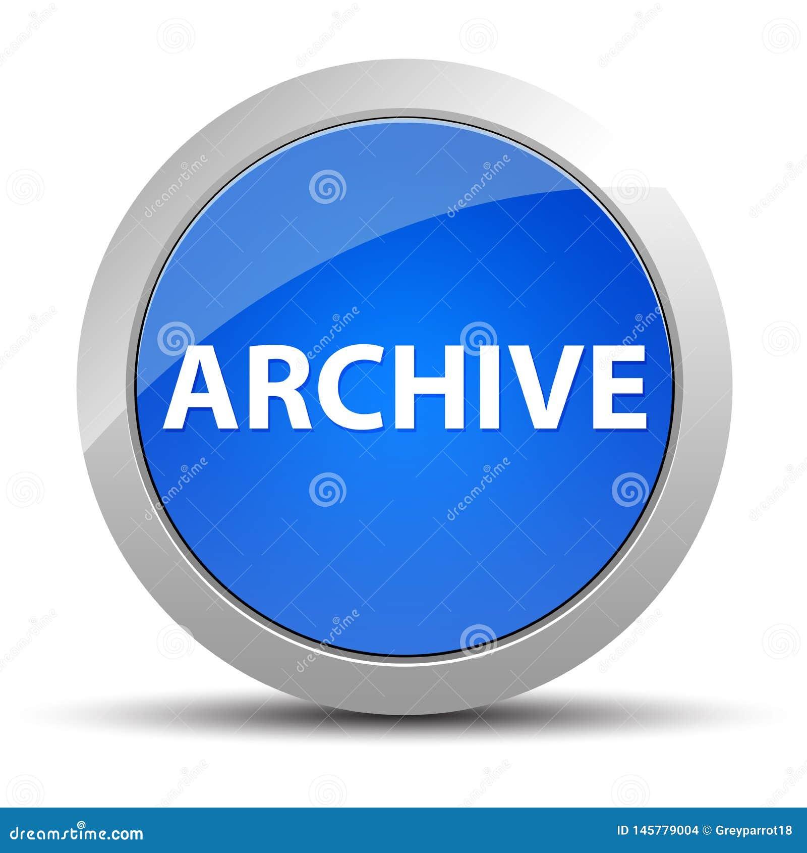 Bouton rond bleu d archives