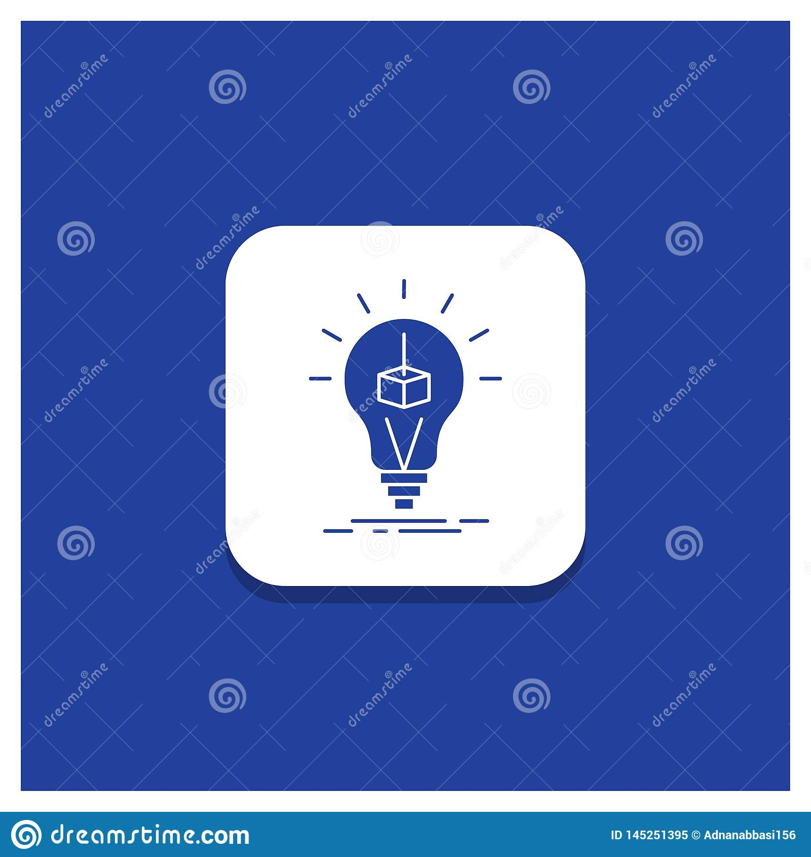 Cube rond-Bleu