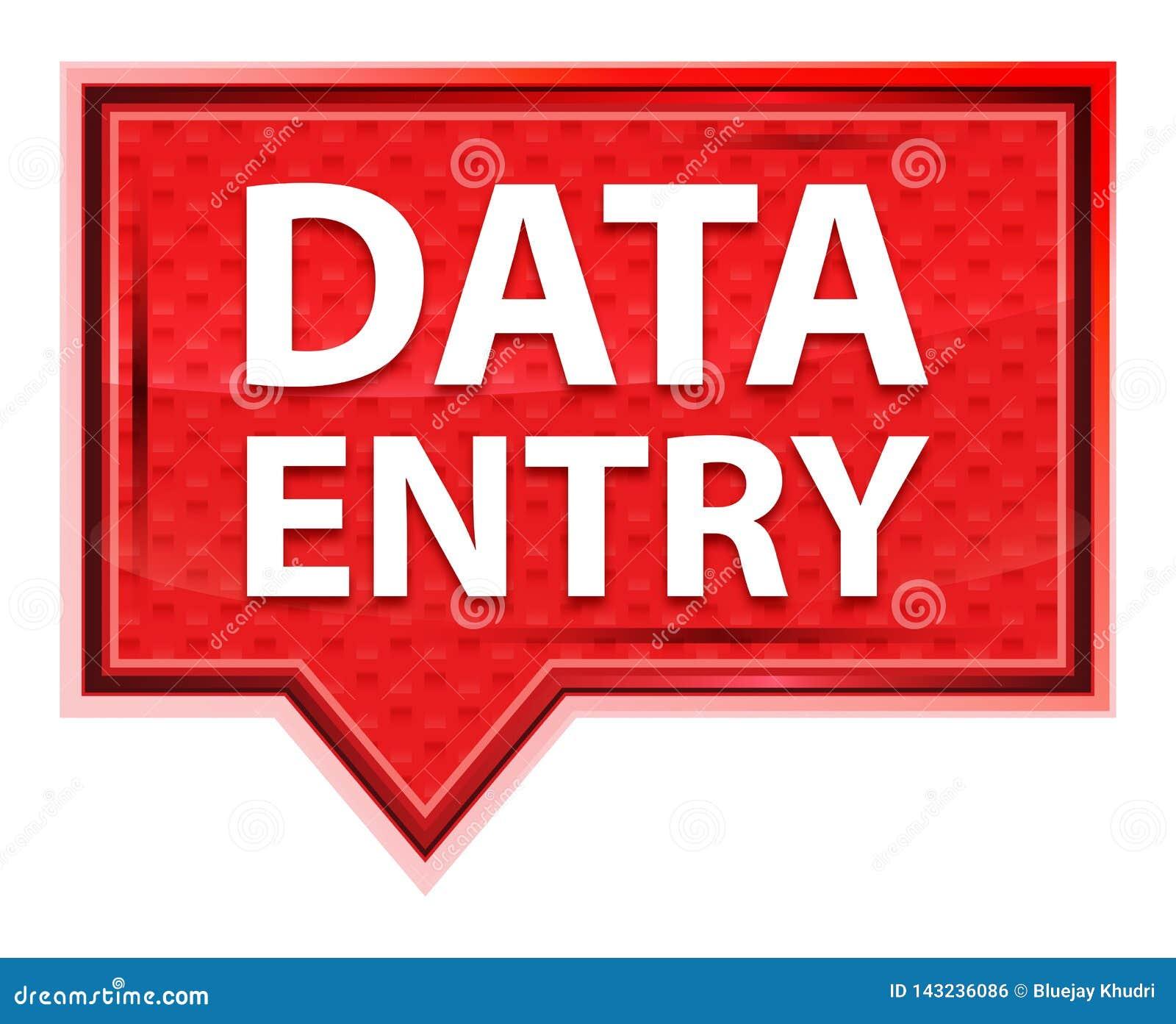 Bouton rose rose brumeux de bannière de saisie de données
