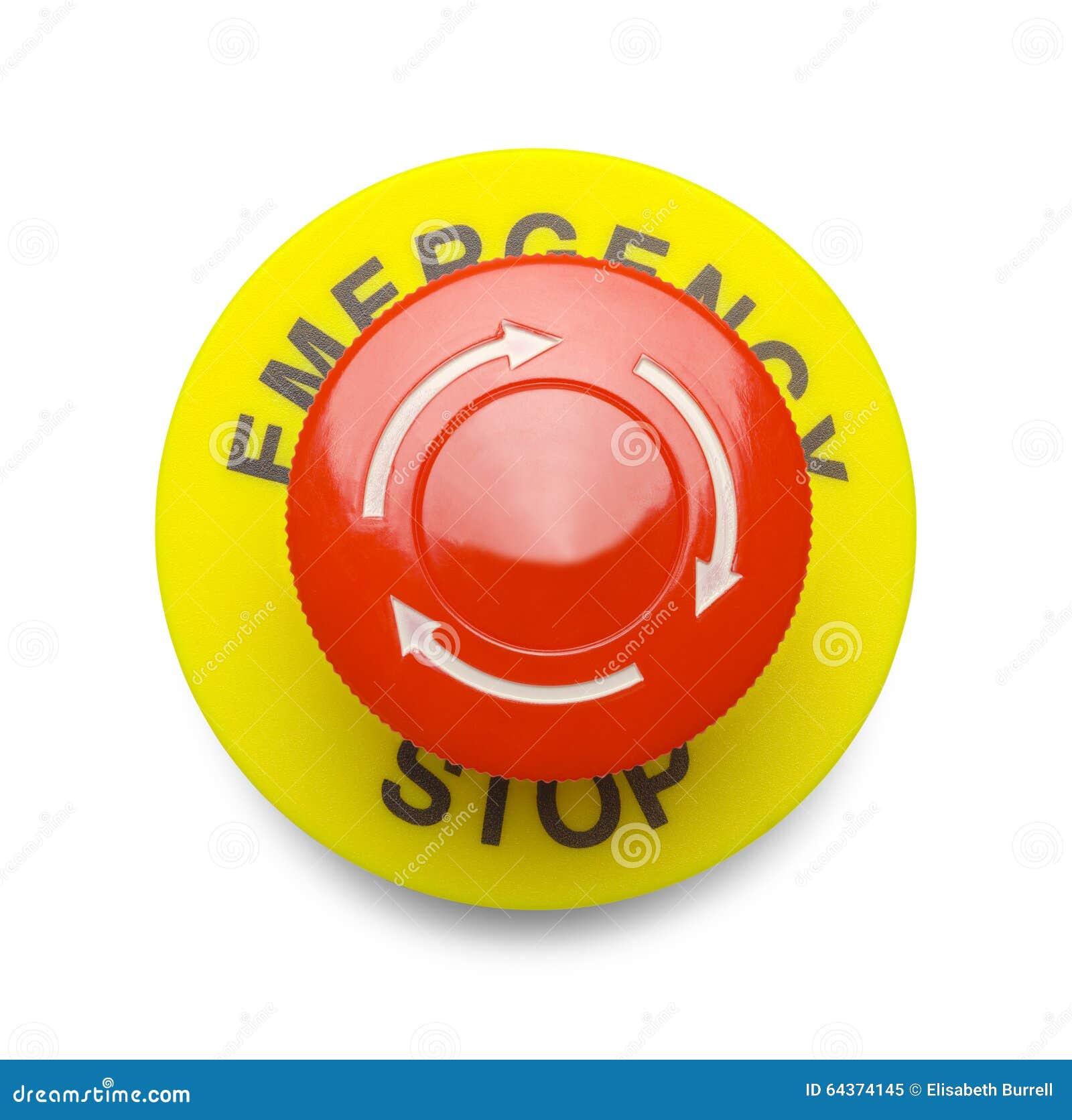 Bouton rouge d 39 arr t d 39 urgence image stock image 64374145 - Bouton arret d urgence ...