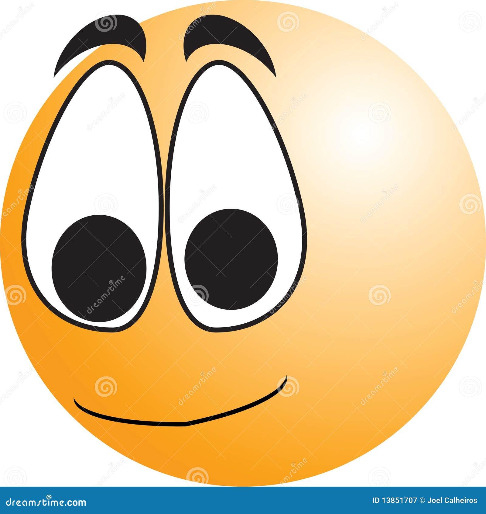 Bouton souriant de visage