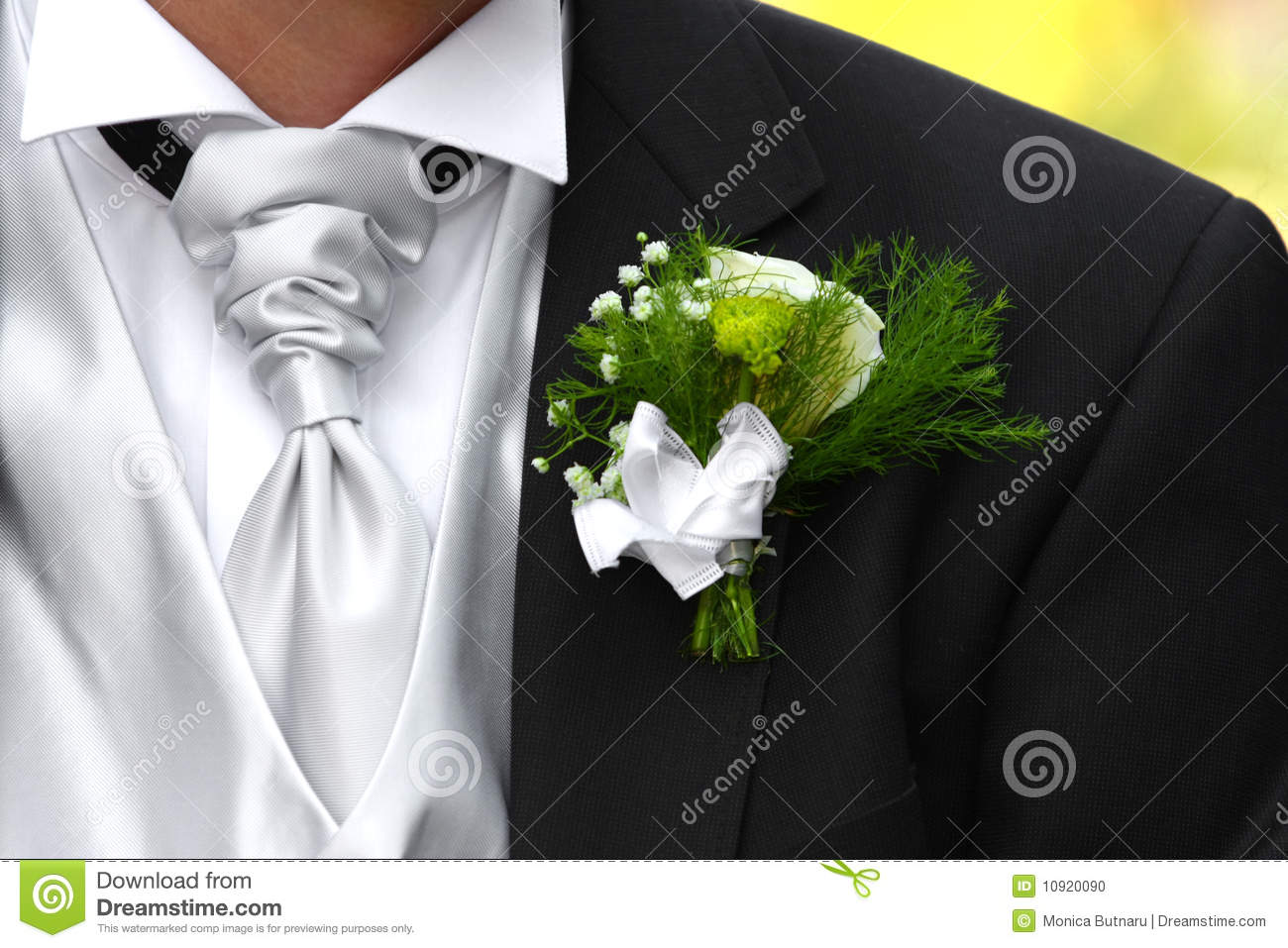 boutonniere de mariage photo stock image du bouton vert 10920090. Black Bedroom Furniture Sets. Home Design Ideas