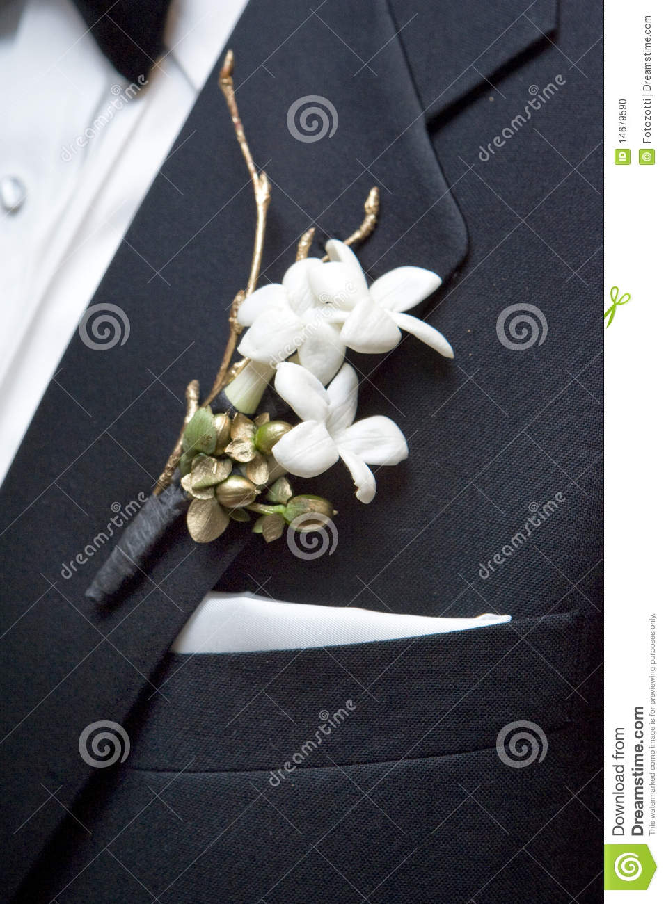 boutonniere fleur photo stock image du macro mari 14679590. Black Bedroom Furniture Sets. Home Design Ideas