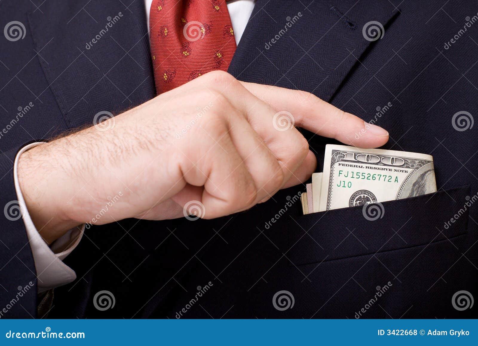Boutonniere met geld