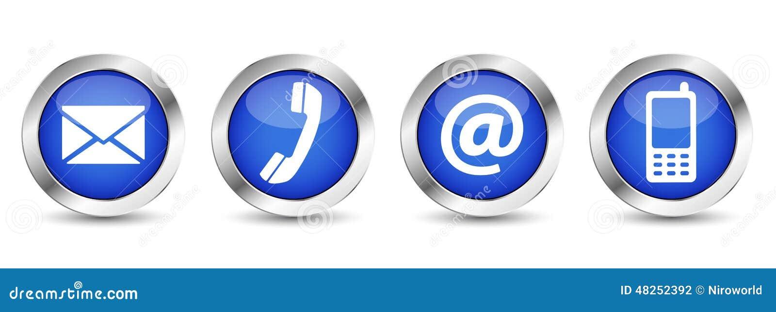 Boutons de contactez-nous de Web