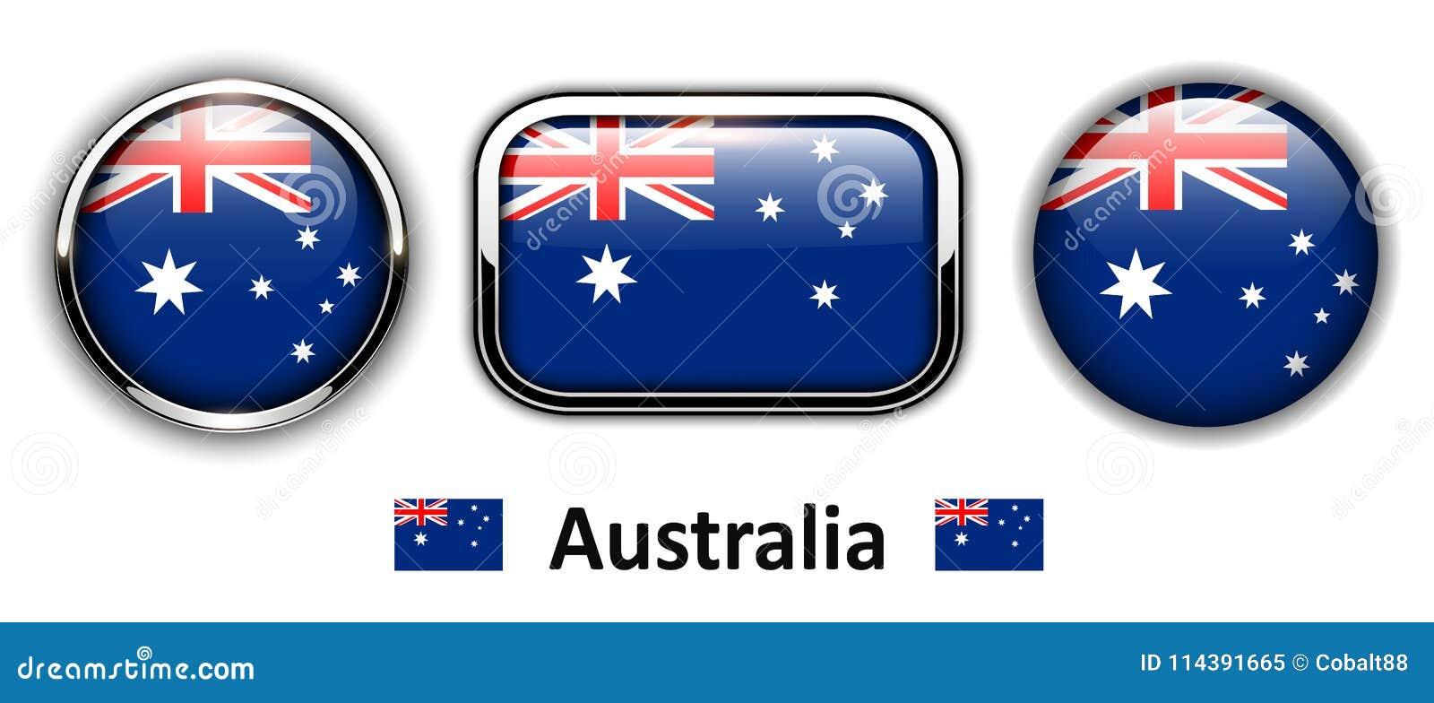 Boutons de drapeau d Australie