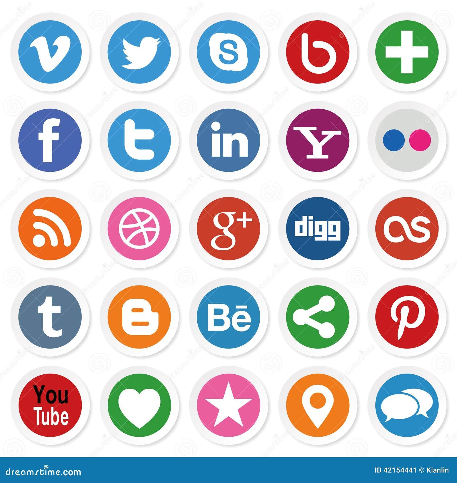 Boutons sociaux de media