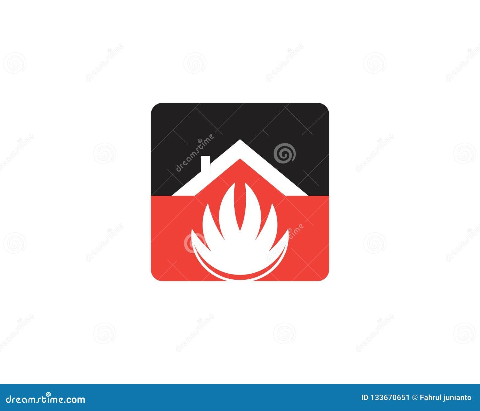 Bouw het embleemmalplaatje van de huisbrand