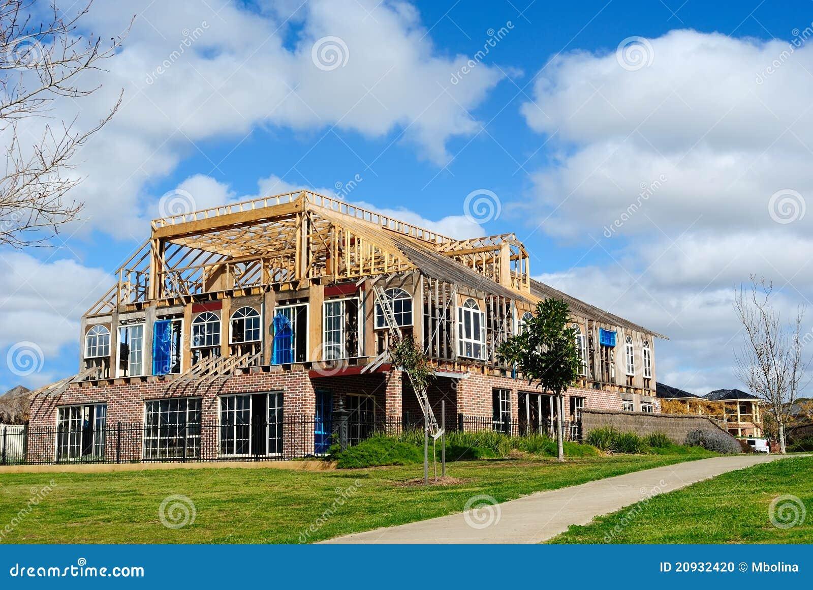 Bouw van nieuw huis met modern ontwerp stock foto beeld 20932420 - Nieuw huis ...