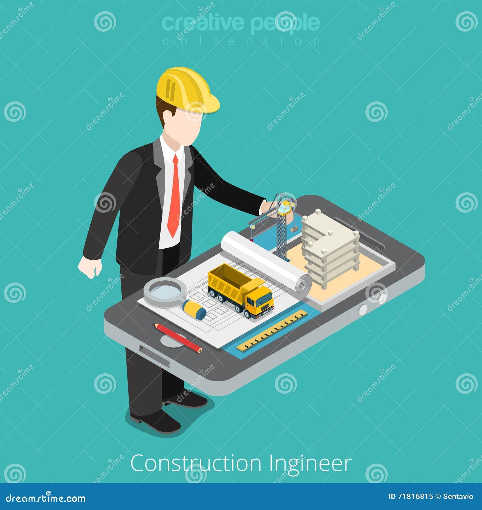 Bouwingenieur, architect Mannelijke arbeider over