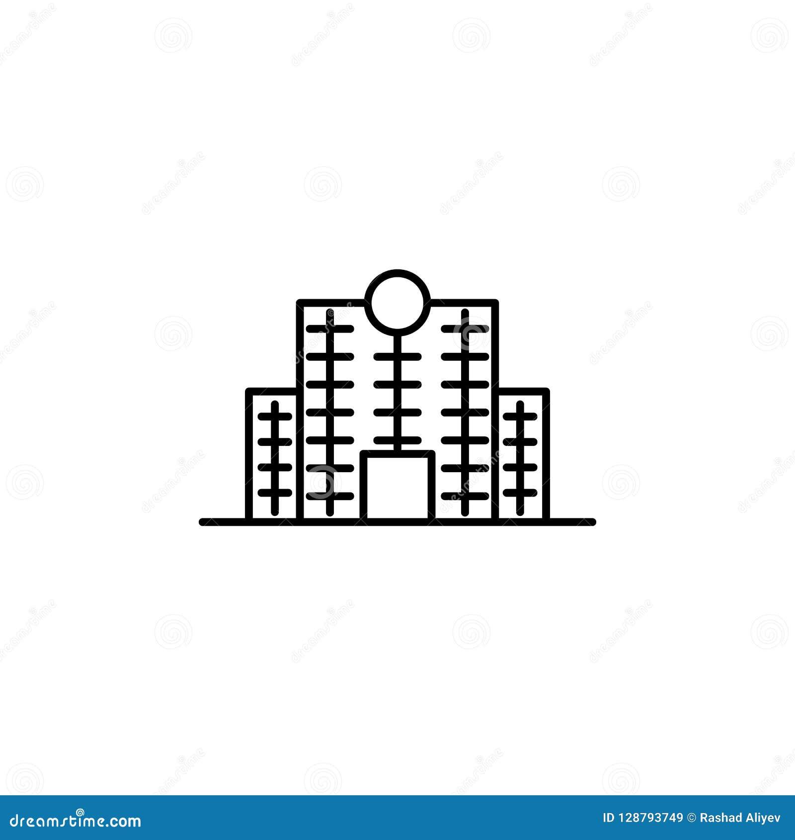 Bouwpictogram Element van de bouw voor mobiel concept en Web apps iicon Dun lijnpictogram voor websiteontwerp en ontwikkeling, ap