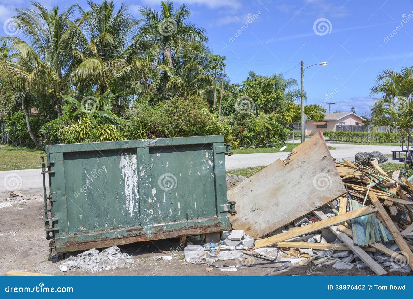 Bouwwerf dumpster