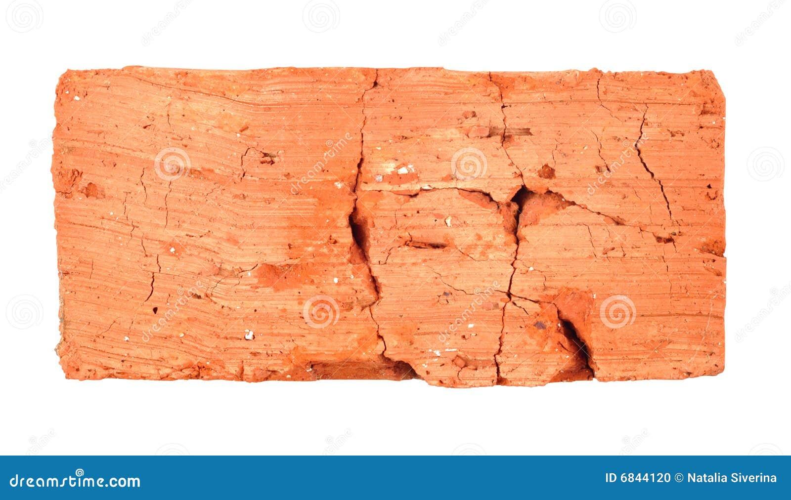 Bovenkant van gebarsten baksteen stock foto afbeelding 6844120 - Muur steen duidelijk ...