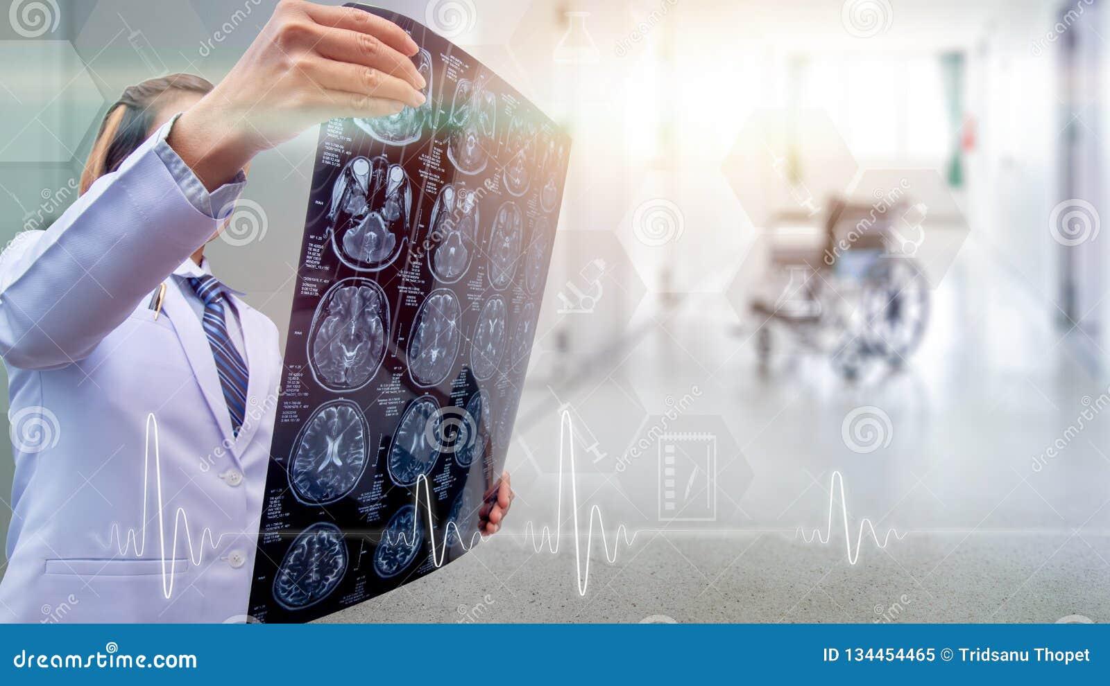 Bovenste gedeelte van menselijk lichaam, x-ray beeld van de hoogtekwaliteit van mens binnen