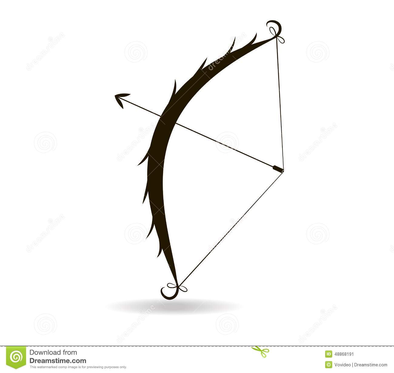 Bow And Arrow, Isolated Vector Illustration Stock Vector ...