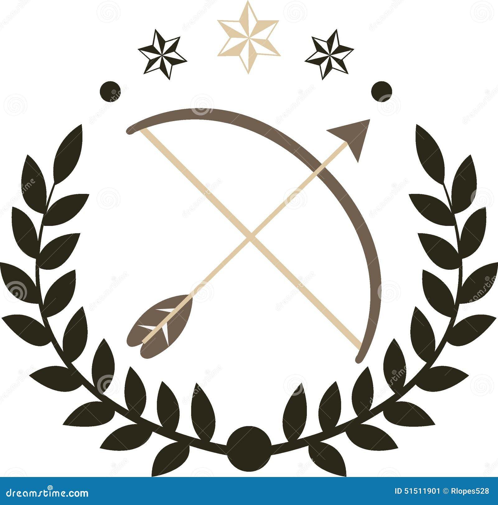 Bow And Arrow Logo Stock Vector Image 51511901
