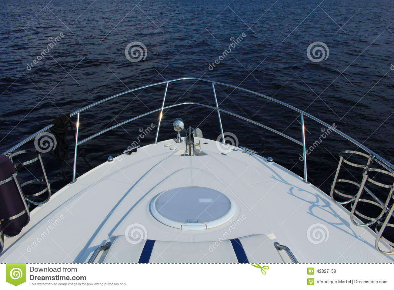 Bow Of A Boat >> Bow Of A Boat In Top View Stock Photo Image Of Jean 42827158