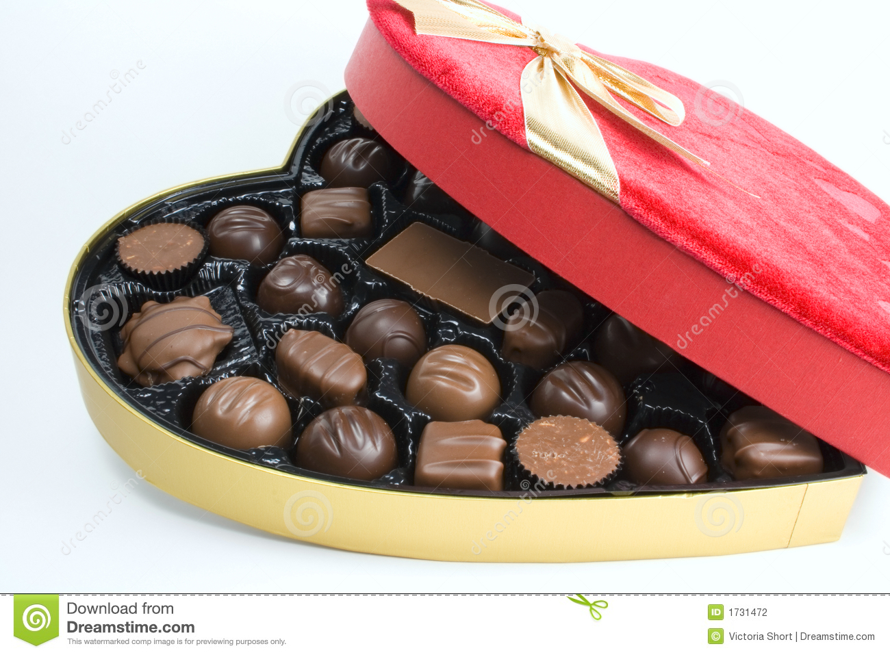 Bow, Box And Chocolates Stock Photography - Image: 1731472