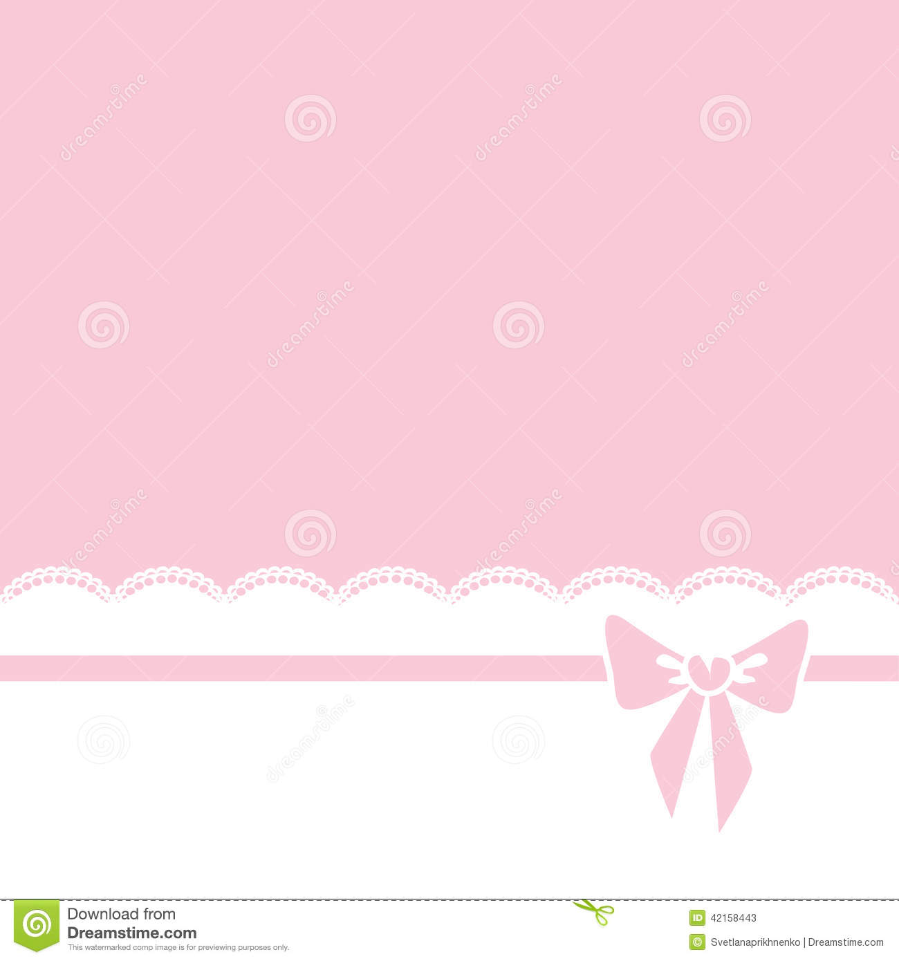 Bow And Lace Border Stock Vector - Image: 42158443