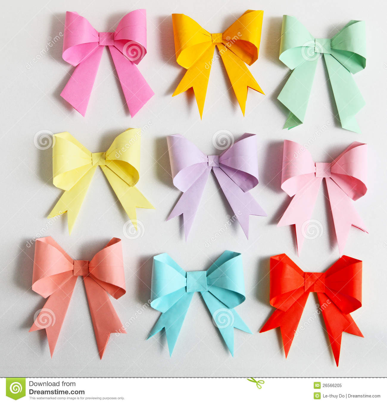 Download Bow Origami Stock Image Of Model Color Card