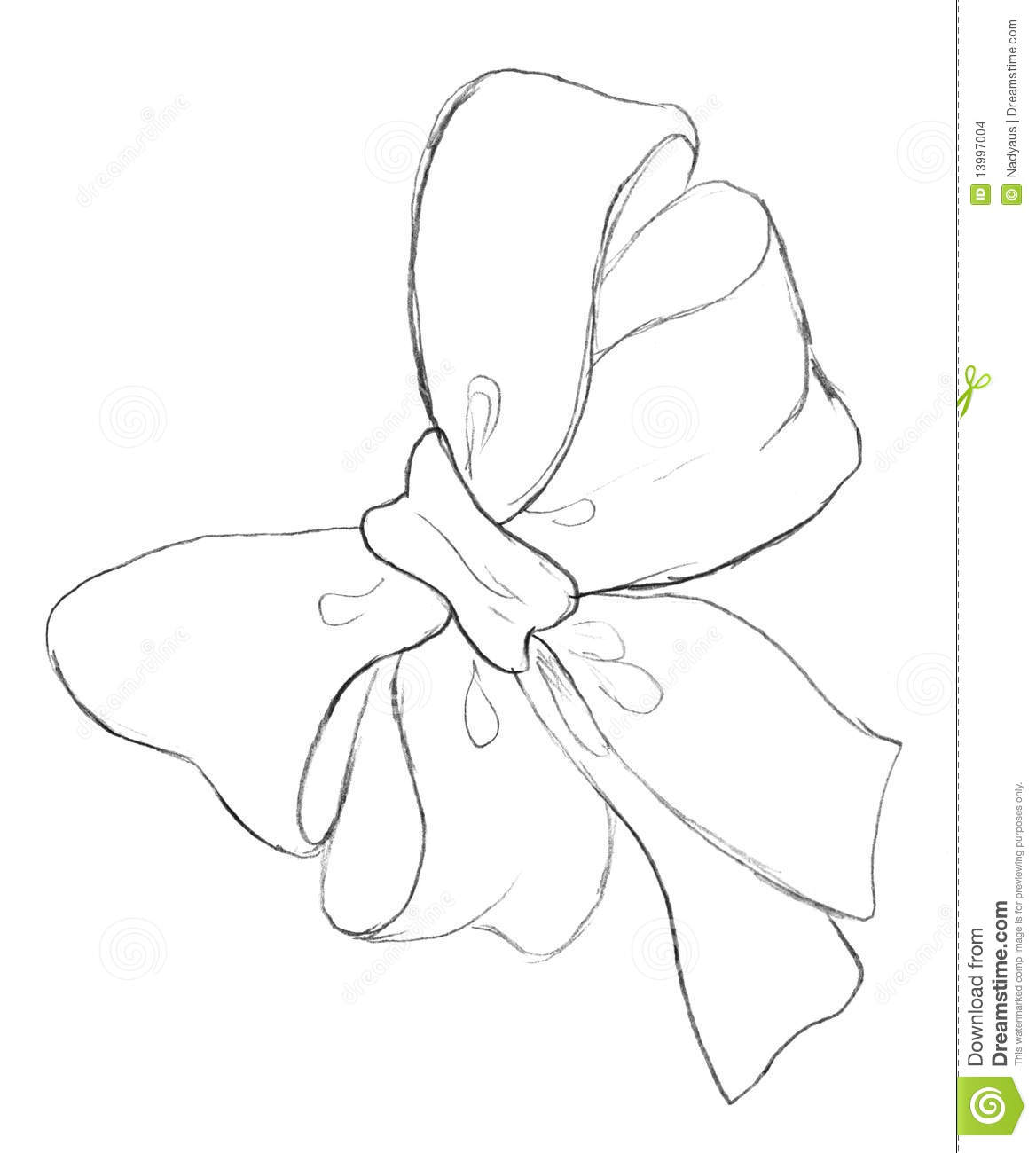 Bow Pencil Drawing Stock Illustration Image Of Gift
