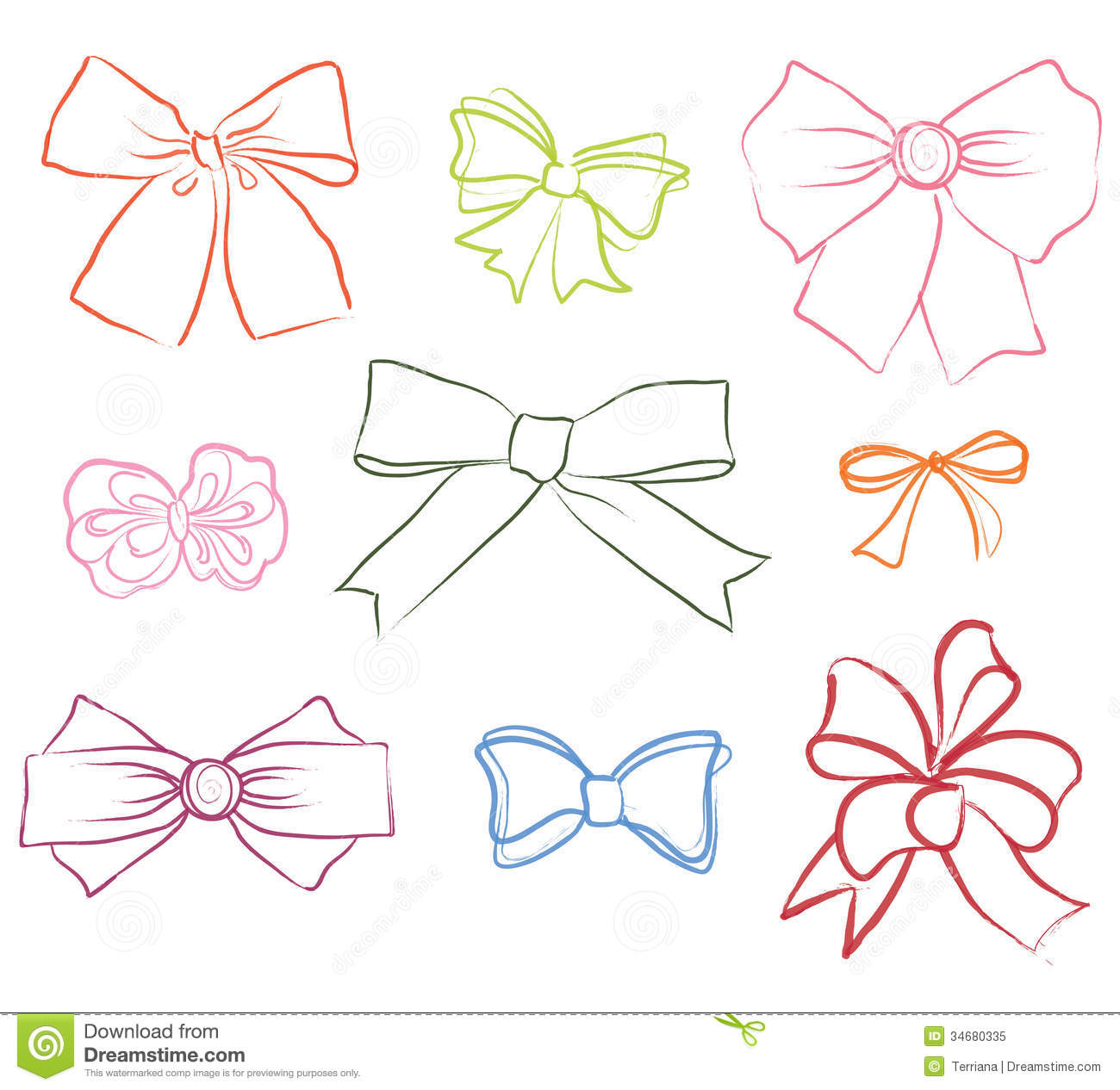 Image Gallery outline ribbon bows