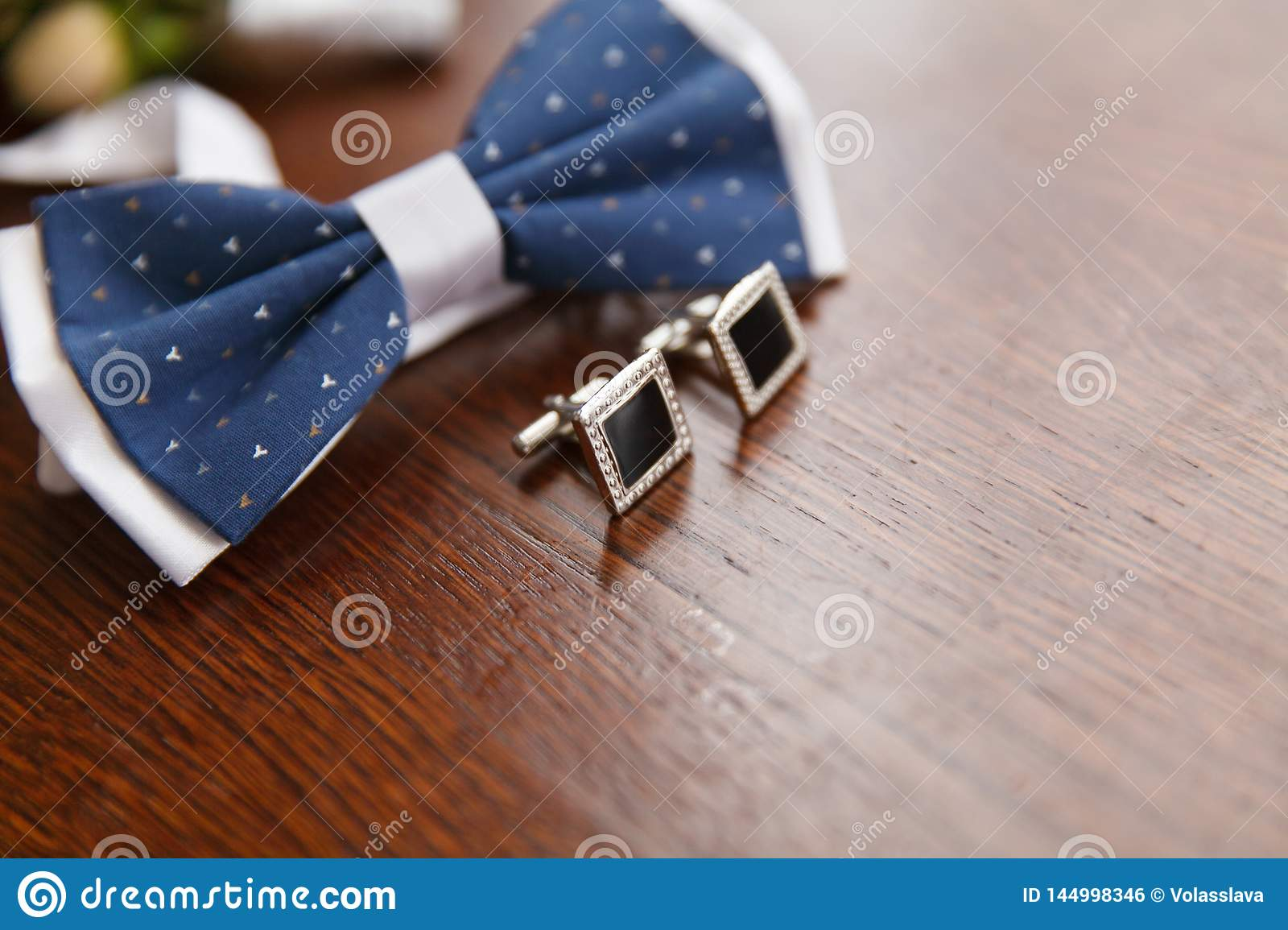 Bow Tie and Cufflinks for Groom