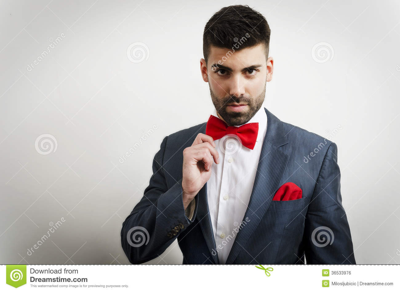 Picture suggestion for Grey Suit Red Tie Vest