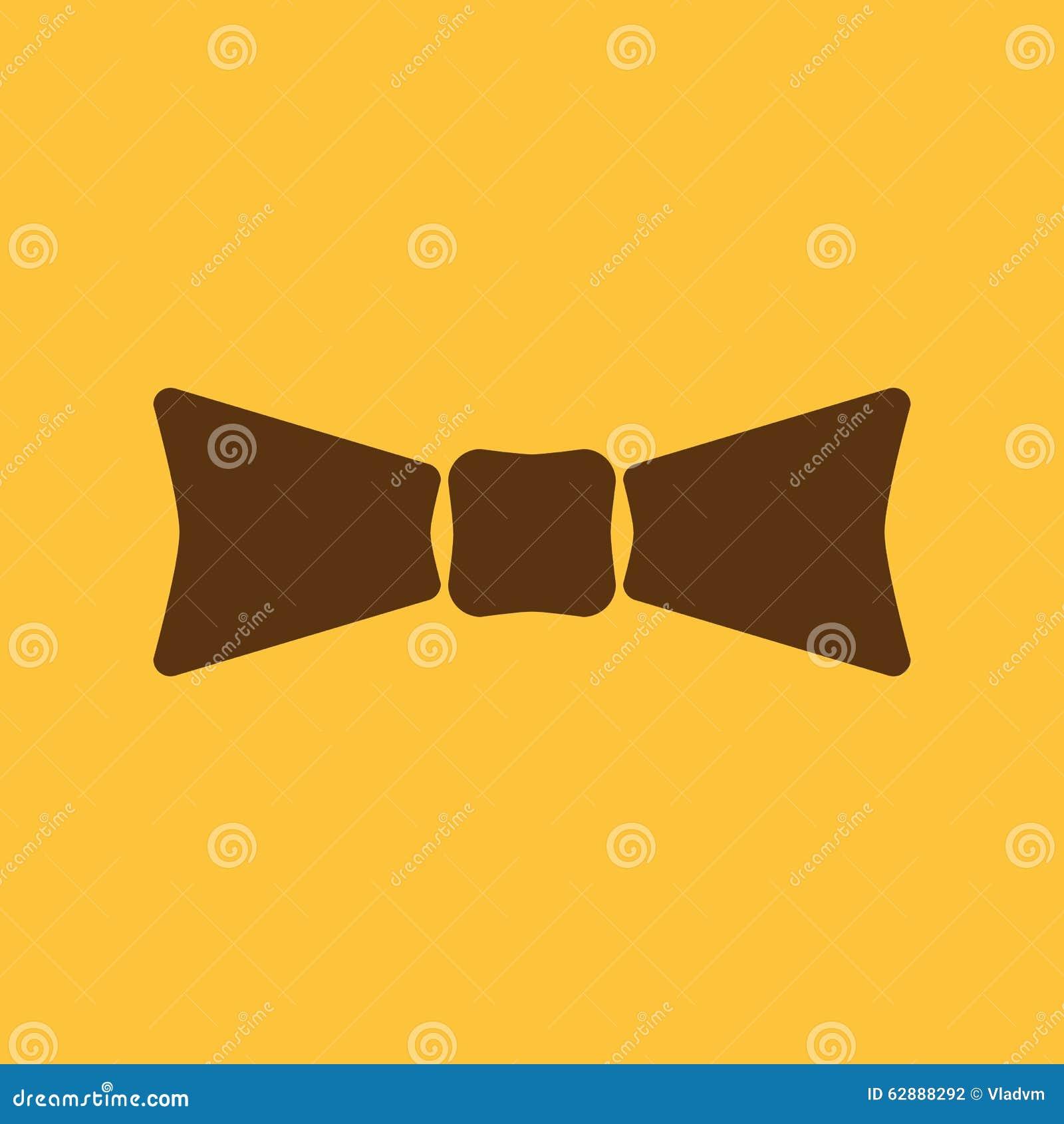 The Bow Tie Icon Bow Tie Symbol Flat Stock Illustration