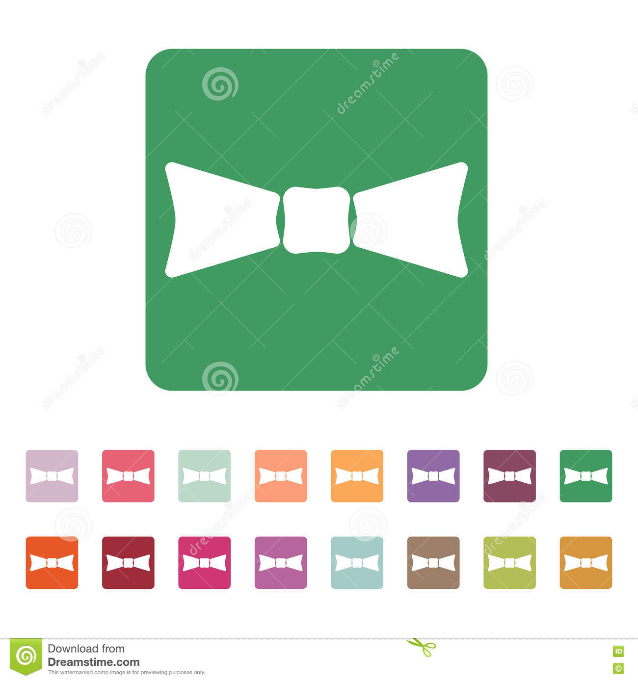 The Bow Tie Icon Bow Tie Symbol Flat Stock Vector Illustration