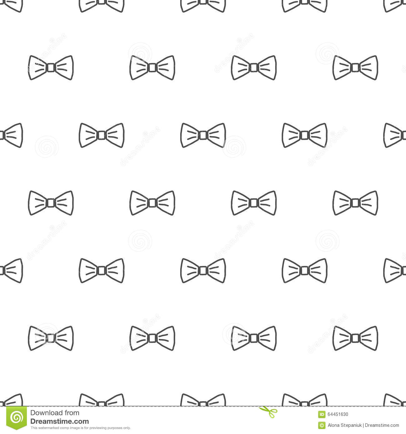 Bow Tie Seamless Pattern Vector Image 64451630 – Bow Tie Template