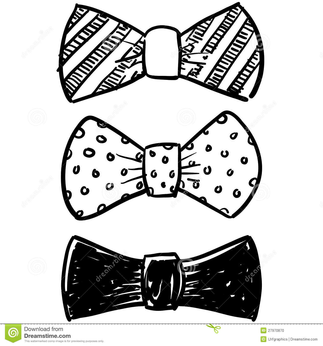 clipart bow tie outline - photo #50