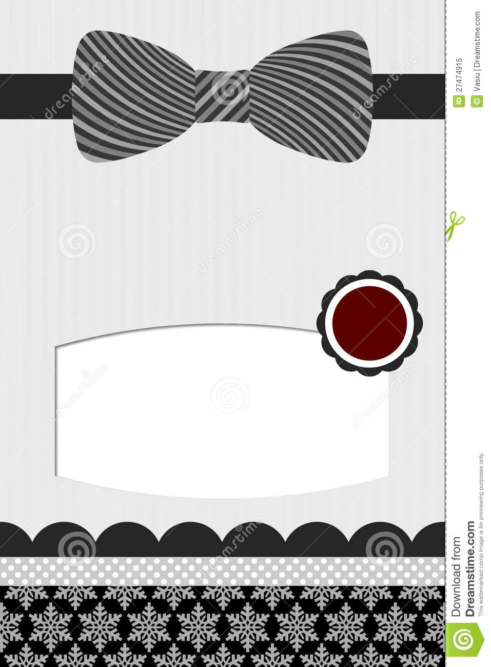 bow tie template stock illustration illustration of necktie 27474915