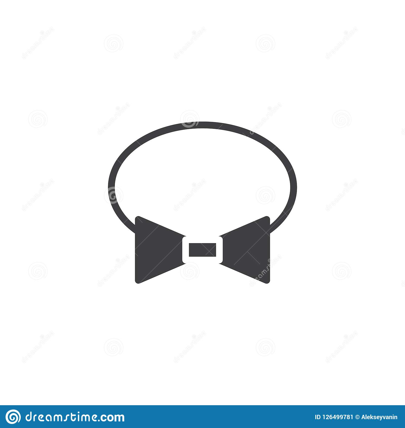 Bow Tie Vector Icon Stock Vector Illustration Of Symbol 126499781