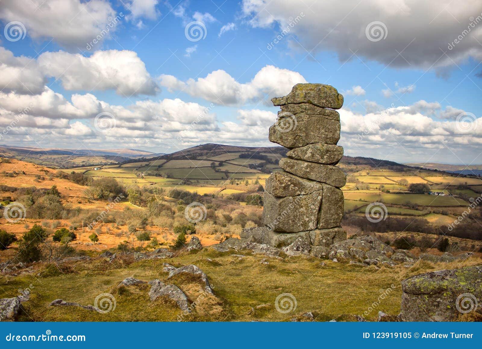Bowermans näsa Dartmoor Devon England