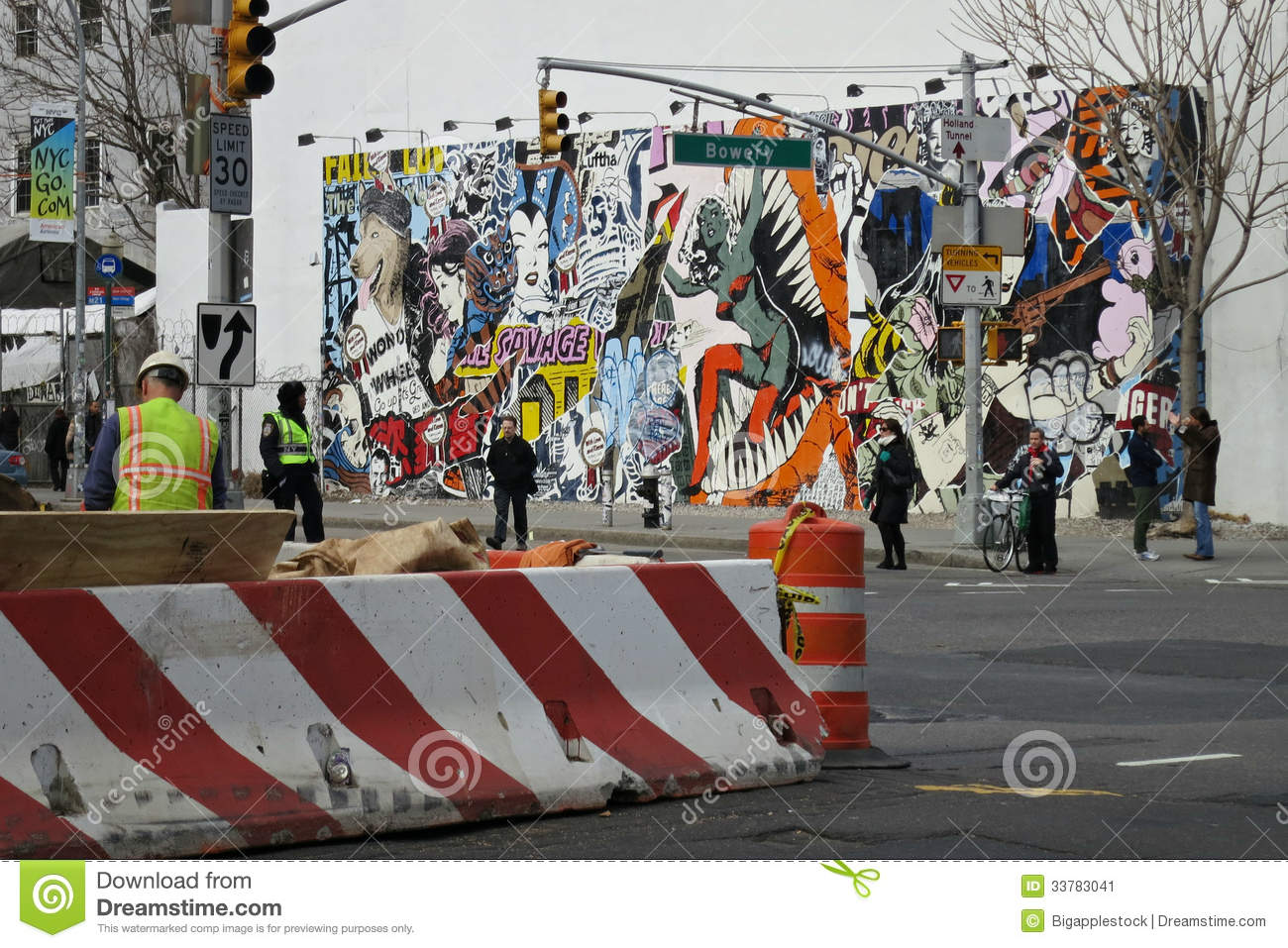 Bowery editorial photo image 33783041 for Bank ballroom with beautiful mural nyc