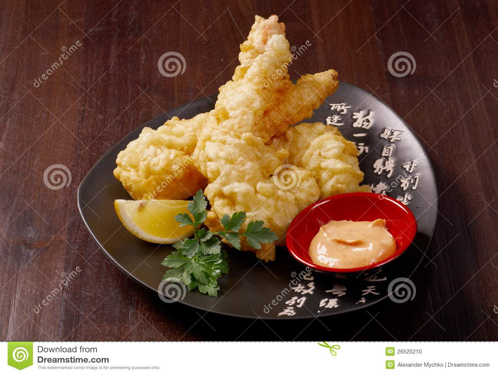 Bowi do tempura de Ebi do camarão