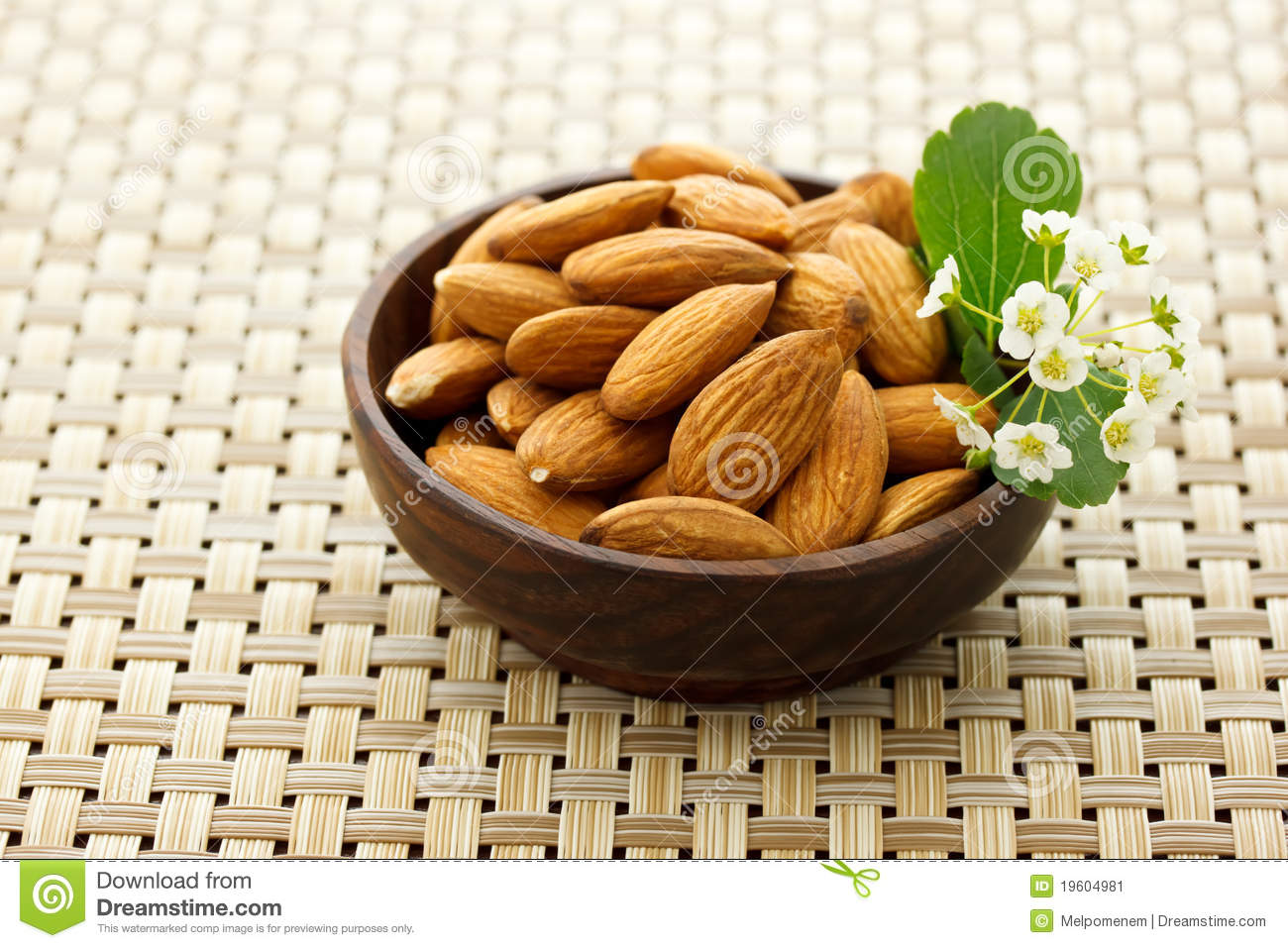 Bowl of Almonds stock image. Image of refreshment, plate ...
