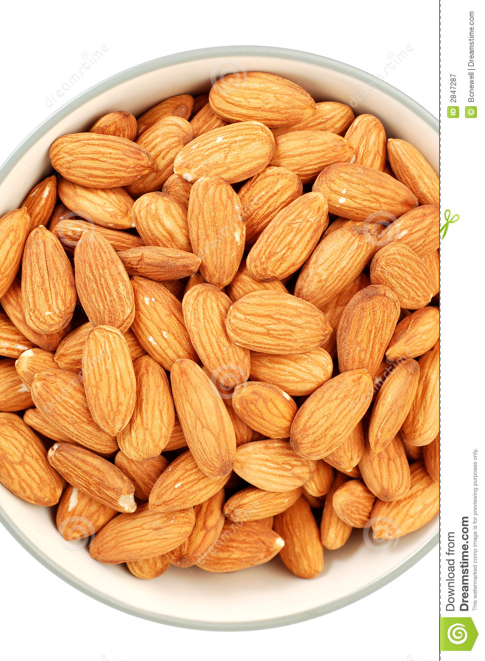 Bowl Of Almonds Royalty Free Stock Photography - Image ...