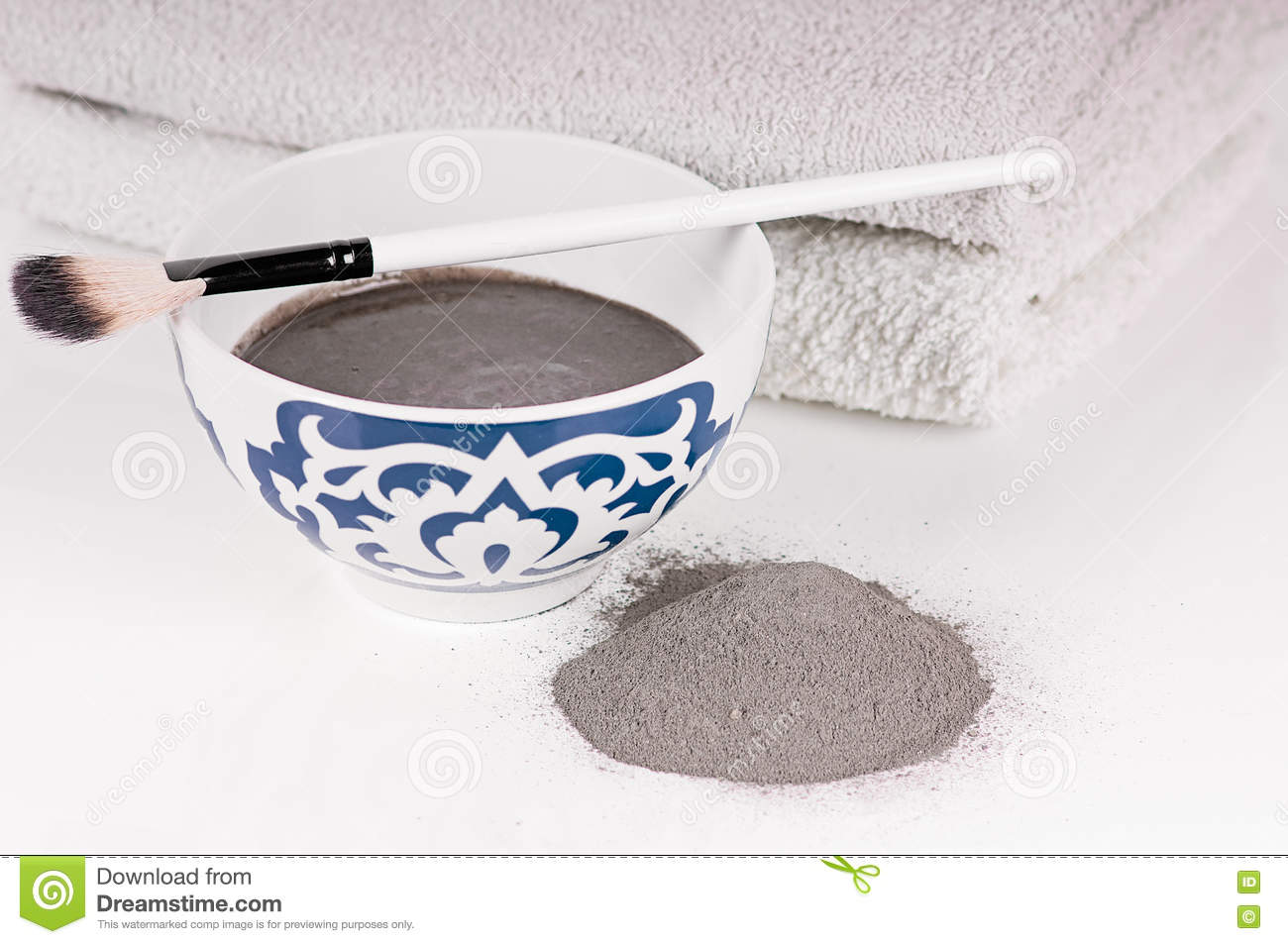 bowl of black clay mask with brush at home skin care stock image rh dreamstime com home skin care remedies home skin care for acne