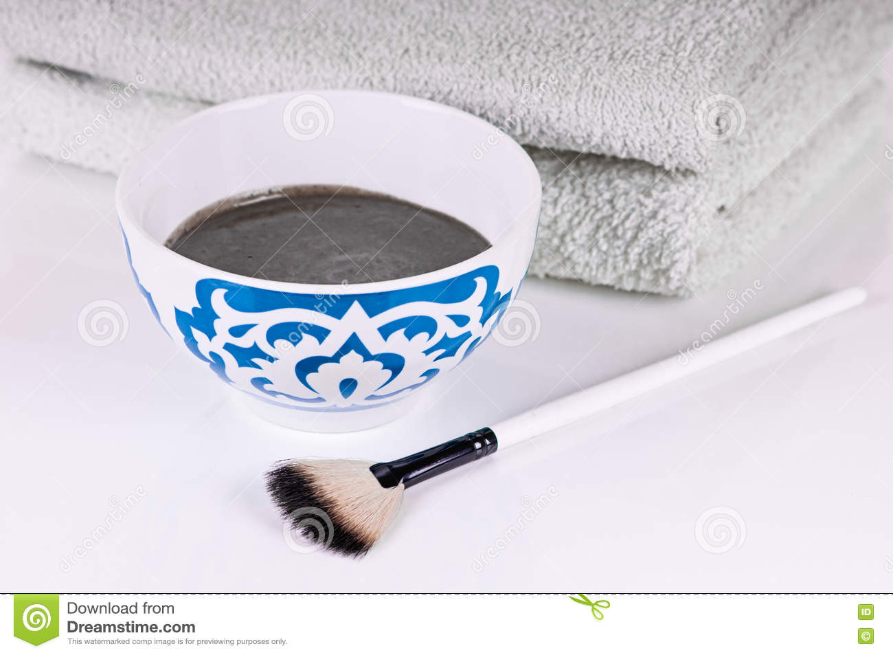bowl of black clay mask with brush at home skin care stock photo rh dreamstime com home skin care business home skin care machines