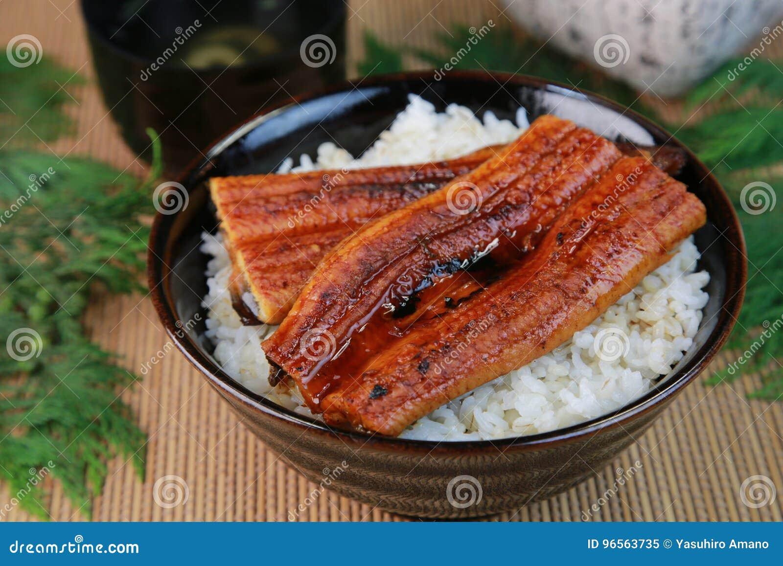 Bowl of broiled eel
