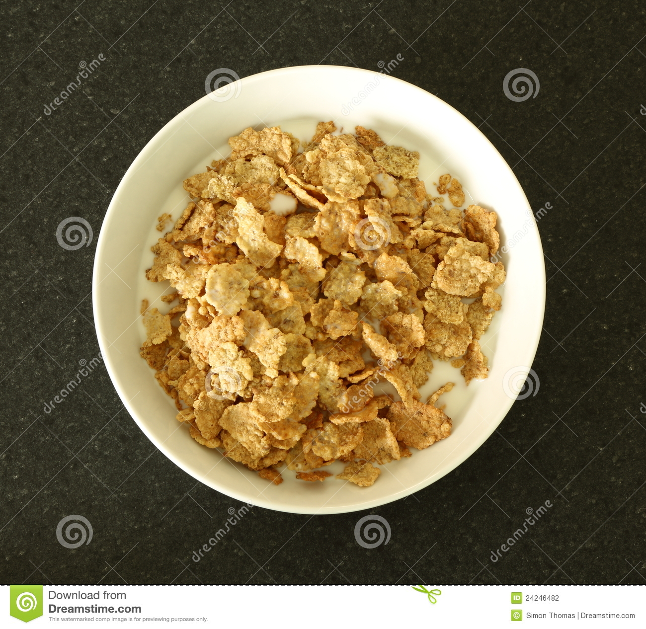 Bowl Of Cereal Stock Photo. Image Of Bowl, Cereal