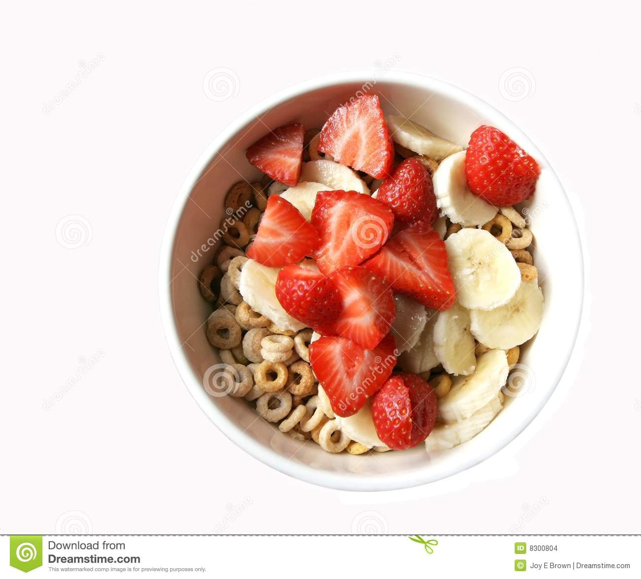 Bowl Of Cereal With Fruit Stock Images Image 8300804