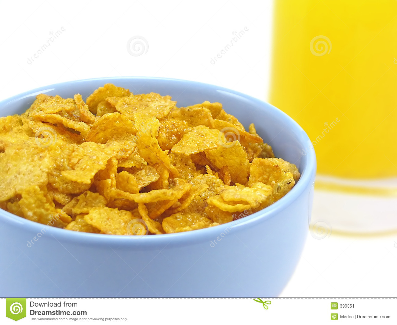 Bowl Of Cereal And Orange Juice Stock Image - Image: 399351
